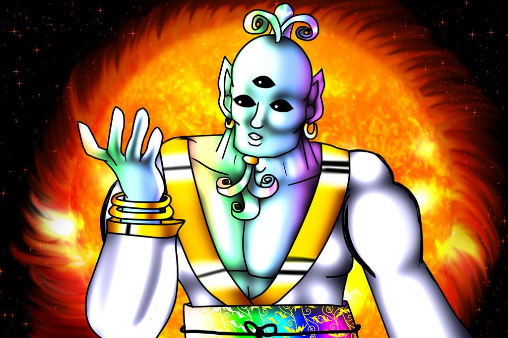 Ki-Chan:The Creator And The Sun (A word about God) by KorianderBullard