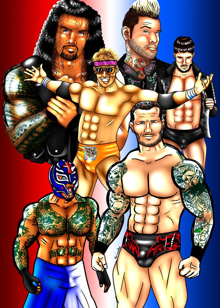 WWE Superstars by KorianderBullard