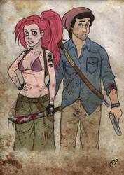 The Walking Disney : Ariel and Eric by Kasami-Sensei