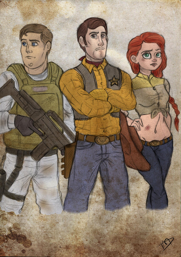 The Walking Disney/Pixar : Woody, Buzz and Jessie by Kasami-Sensei