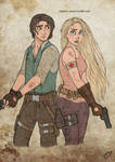 The Walking Disney : Rapunzel and Flynn