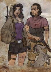 The Walking Disney : Esmeralda, Clopin and Djali by Kasami-Sensei