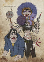The Walking Disney : Yzma and Kronk by Kasami-Sensei