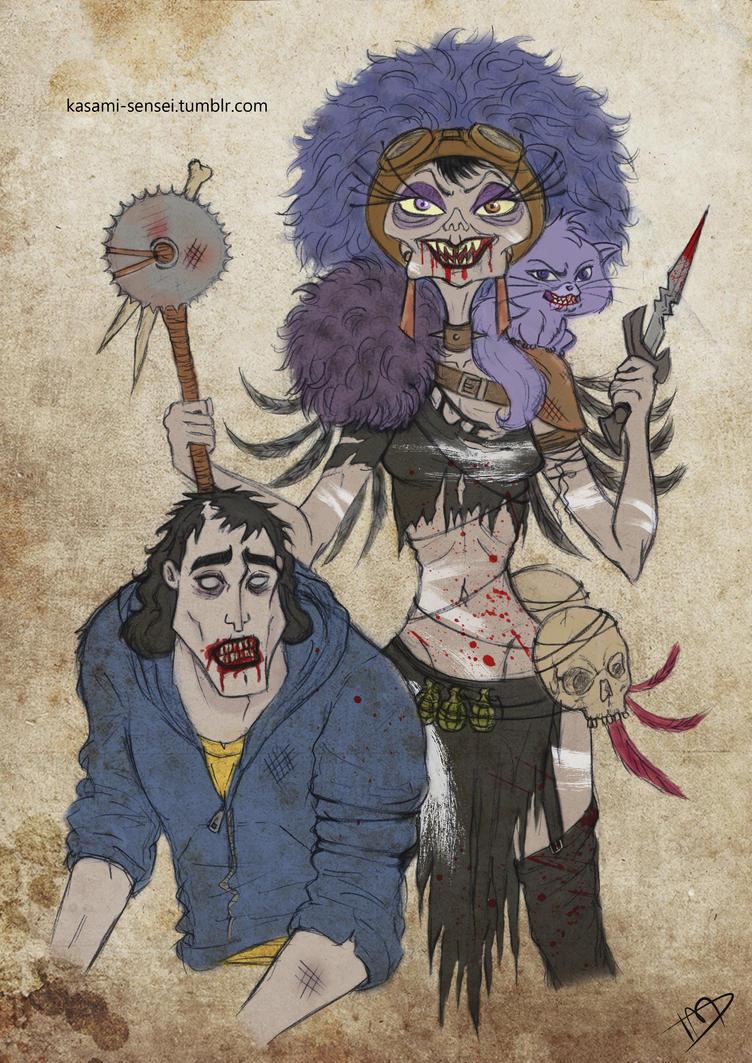 The Walking Disney : Yzma and Kronk by Kasami-Sensei