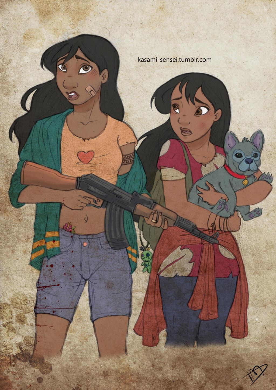 The Walking Disney : Nani, Lilo and Stitch
