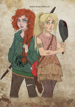 The Walking Disney/Pixar : Merida and Rapunzel 2