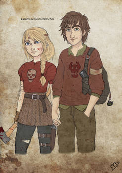 The Walking Dreamworks : Hiccup and Astrid