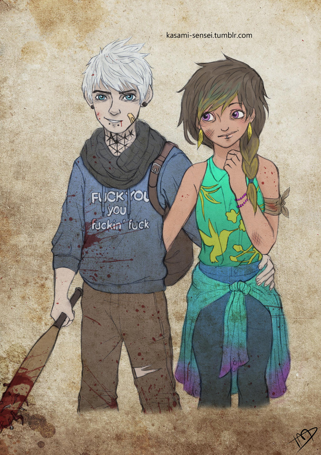 The Walking Dreamworks : Jack and Toothiana