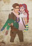 The Walking Disney : Jim and Ariel by Kasami-Sensei