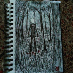 Slenderman in the forest