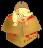 Applejack in Box. by FreeFraQ