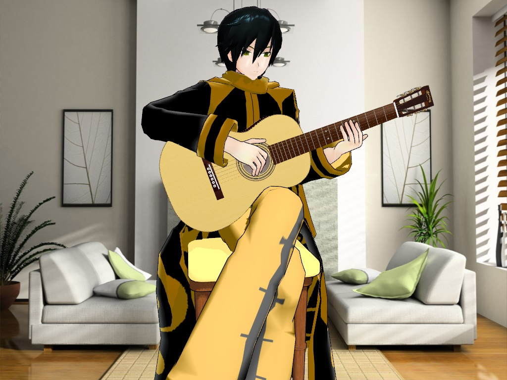 Mmd Yaraito Tocando Guitarra By Vanessa221292 On DeviantART