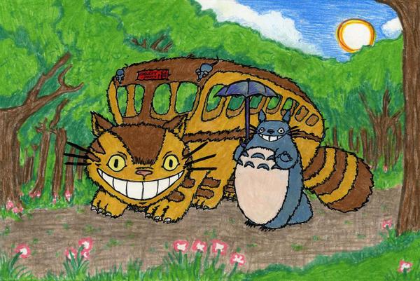 Totoro Birthday Card by supercolossalmech27
