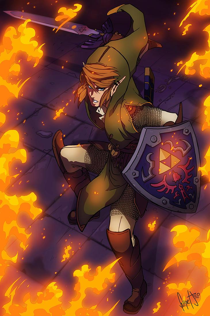 LINK : THE LEGEND OF ZELDA FANART : I SEE FIRE by FelipeJiRo ...