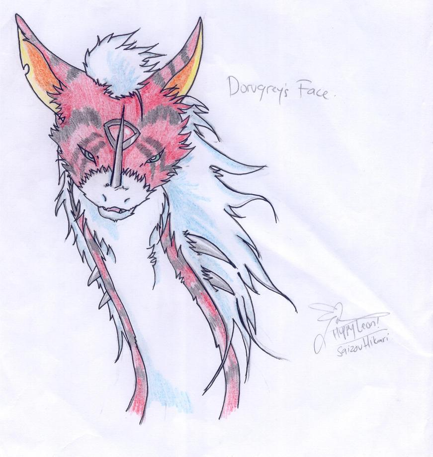 dorugreymon's hair by huppyleon