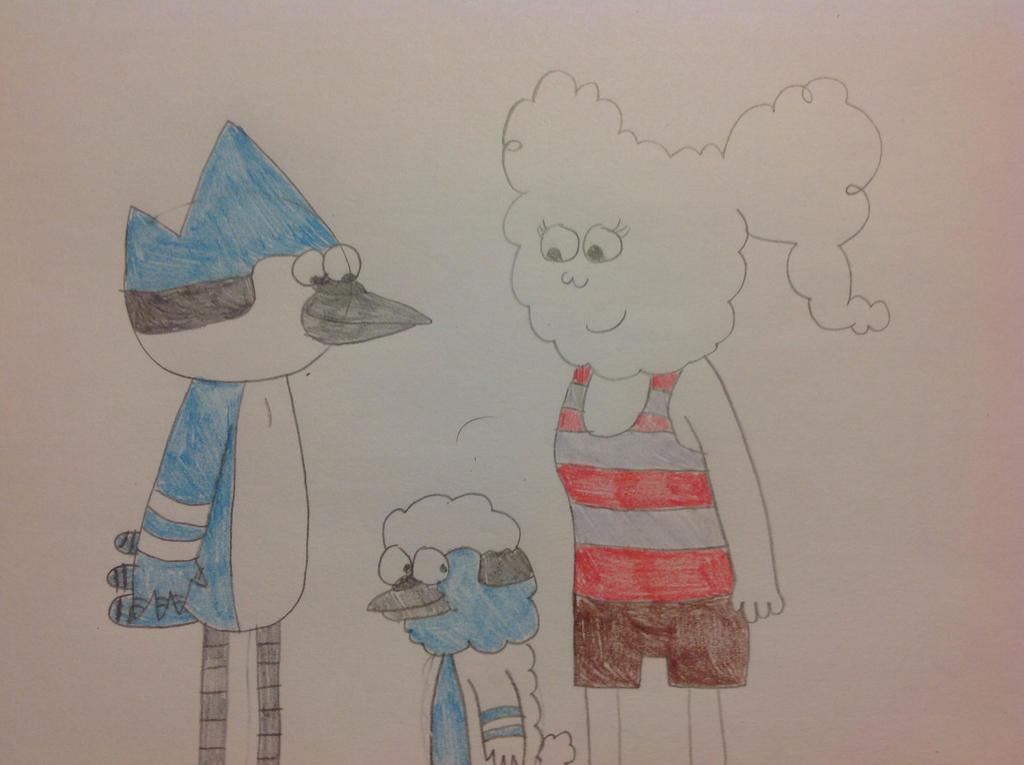 Mordecai, CJ, and Cameron by hmcvirgo92