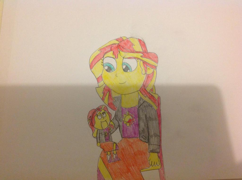 Sunset Shimmer the Ventriloquist by hmcvirgo92
