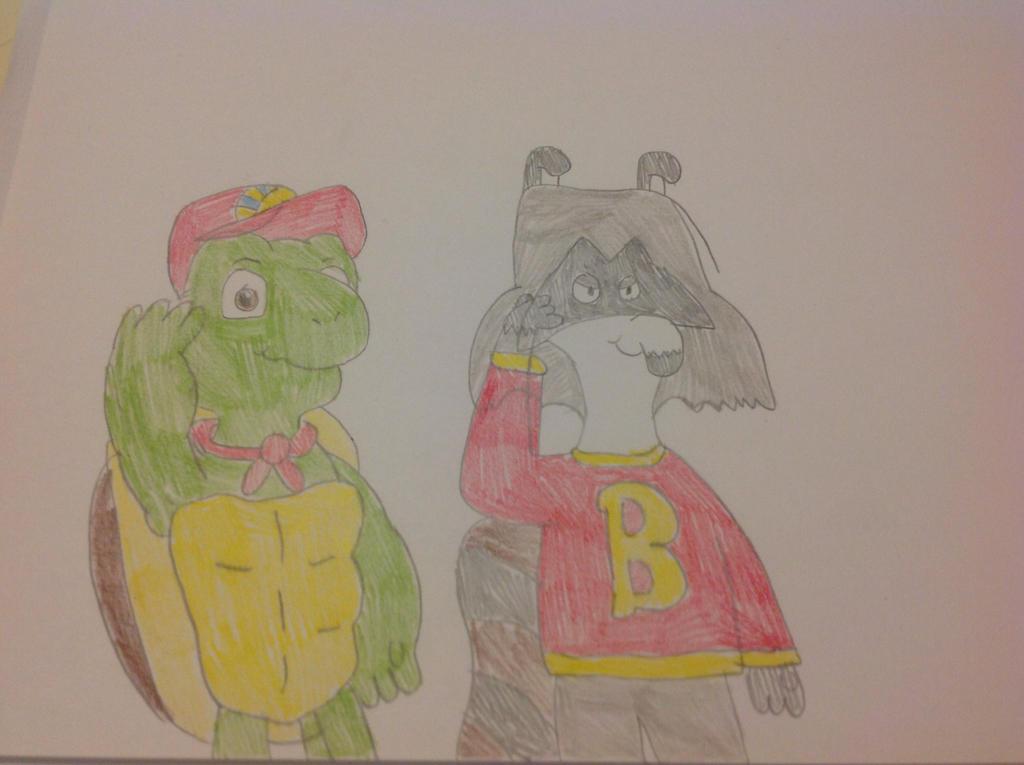 Franklin and Bert Saluting by hmcvirgo92