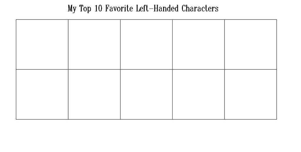 Top 10 Favorite Left Handers by hmcvirgo92