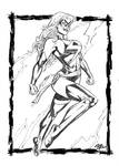 Ms Marvel Papel Canson 180 Gramas