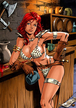 Redsonja Drunk - Colored by ...?