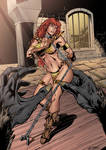 Red Sonja Color By Roncolors