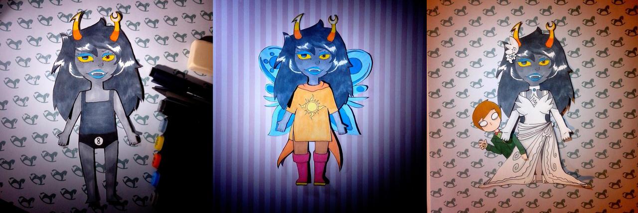 Vriska paper doll by eniarewa