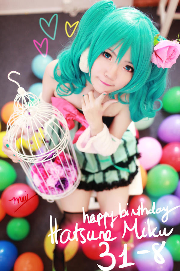 Happy birthday Hatsune Miku! by nyaomeimei
