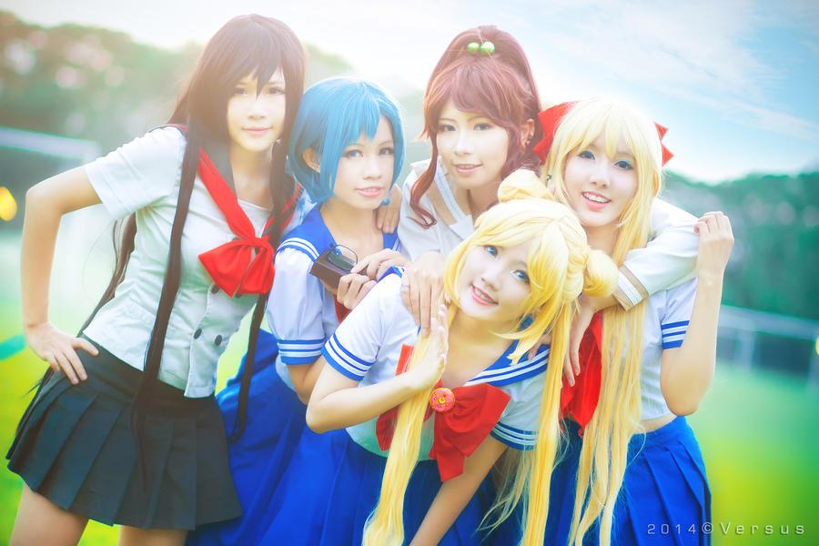 Sailor Moon - School Girls by meipikachu