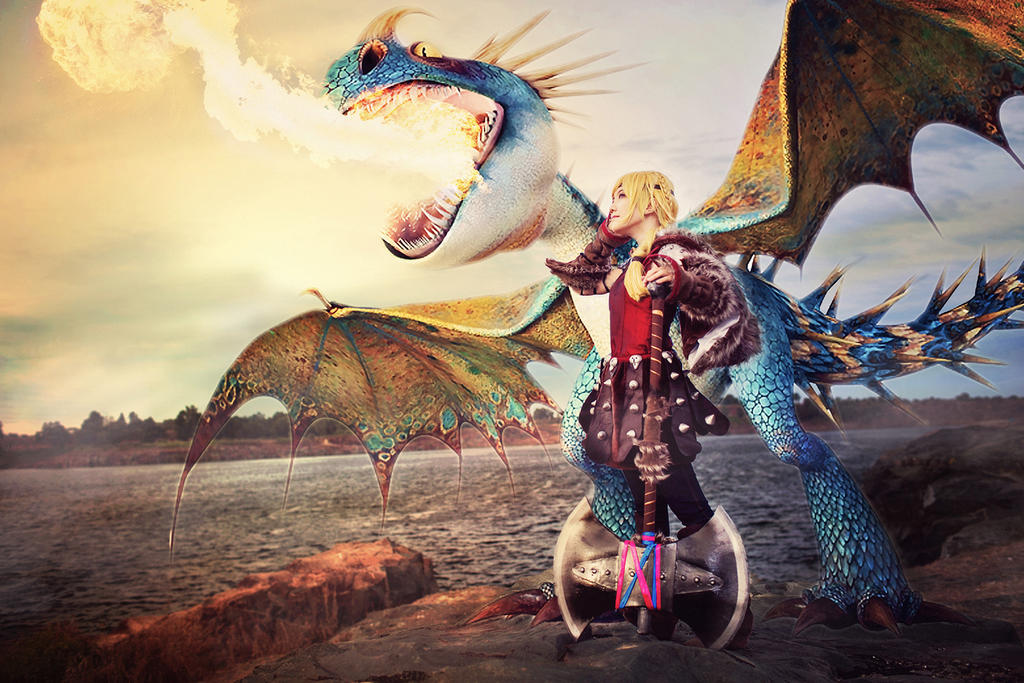 Astrid - The Dragon Rider by nyaomeimei