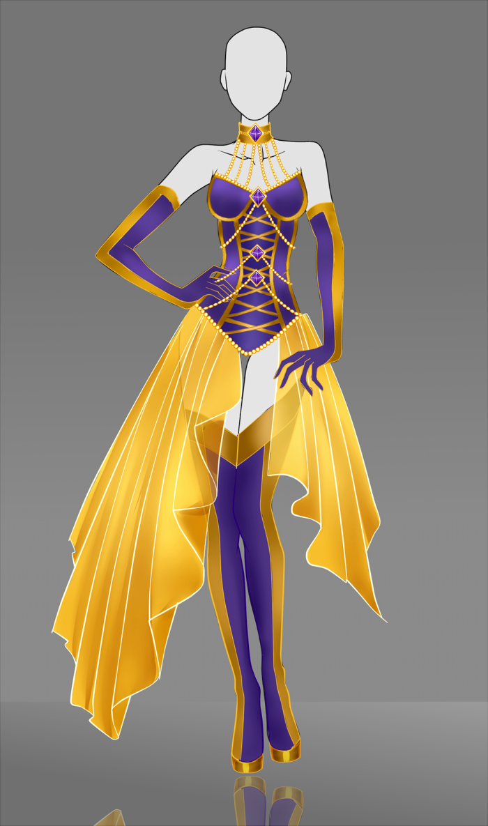 Adoptable Outfit Auction The Gold Bellflower by Nagashia on DeviantArt
