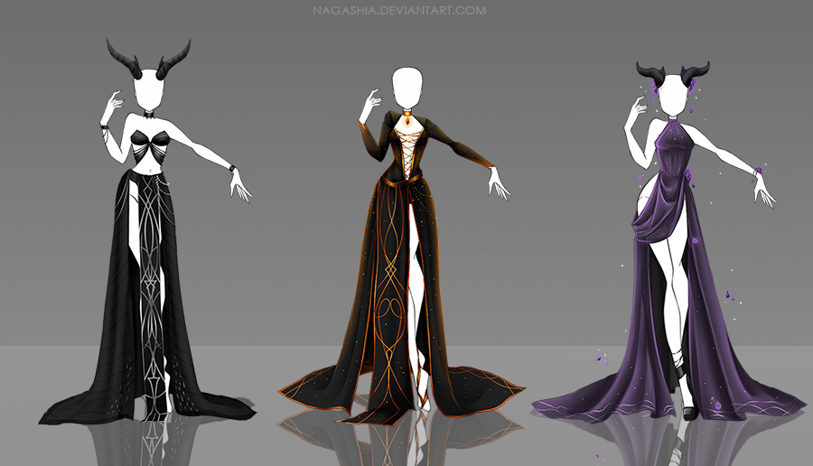 Adoptable Outfits 51, 52, 53 CLOSED by Nagashia