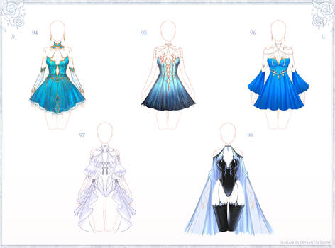 CLOSED Adoptable Outfits 94, 95, 96, 97, 98