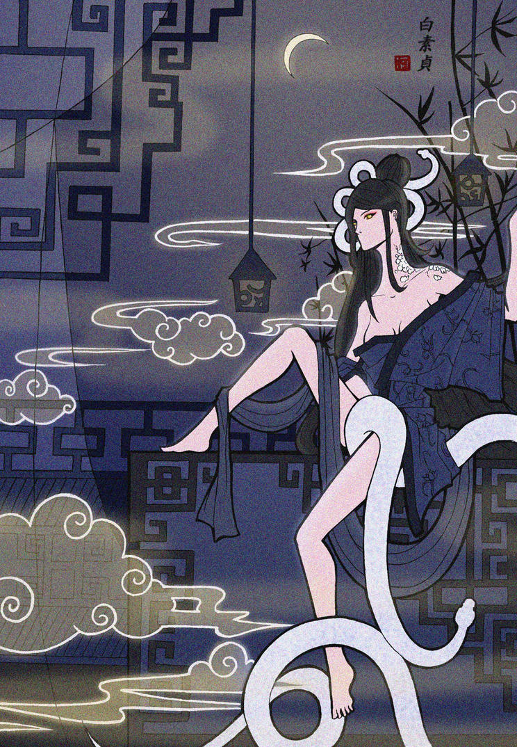'the white snake lady legend'