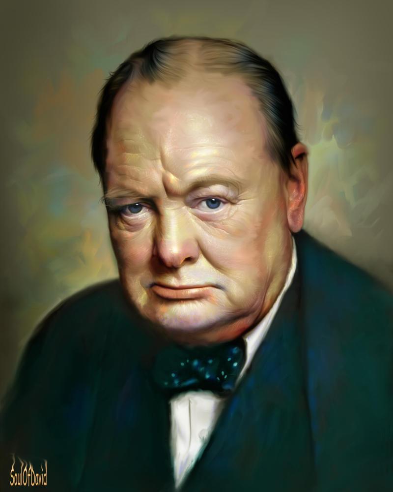 Winston Churchill by SoulOfDavid