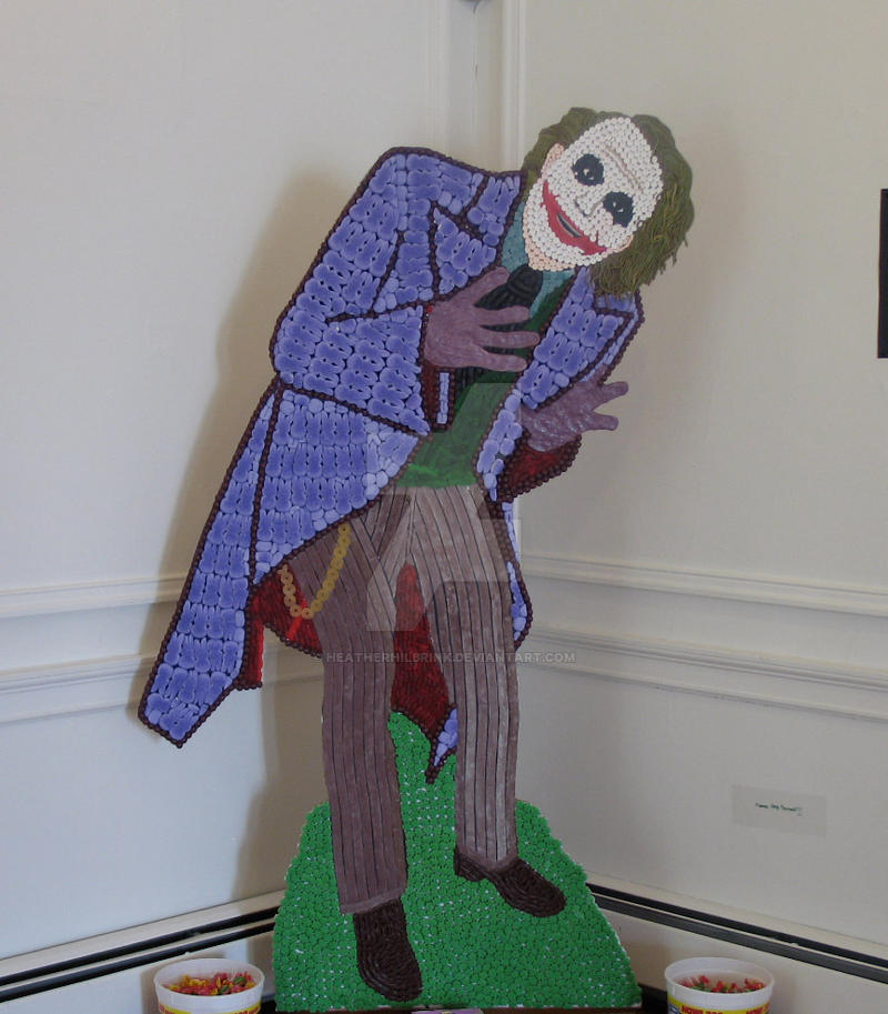 Life-Size Heath Ledger as The Joker (Candy) by HeatherHilbrink