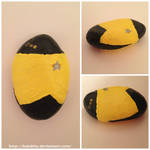 Data Hand-Painted Rock by lodakita
