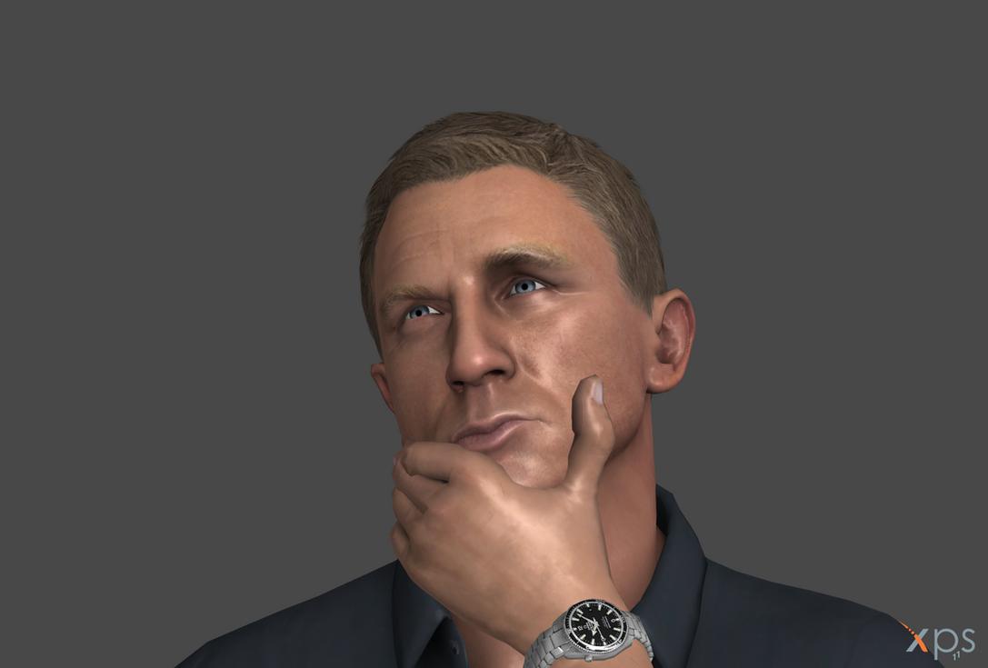 Thinking Daniel Craig by Marcelievsky