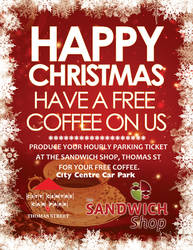 Coffe and Sandwich shop poster