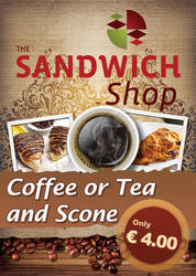 Coffe and Sandwich shop poster 2