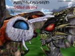 MMD Godzilla - Mothra and MegaGuirus Hilarity