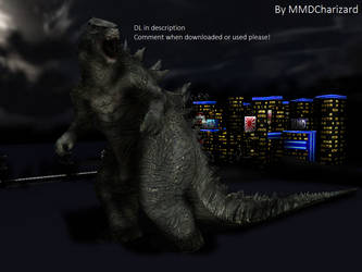 MMD Newcomer  Godzilla 2014 +DL+ +VID+ by MMDCharizard