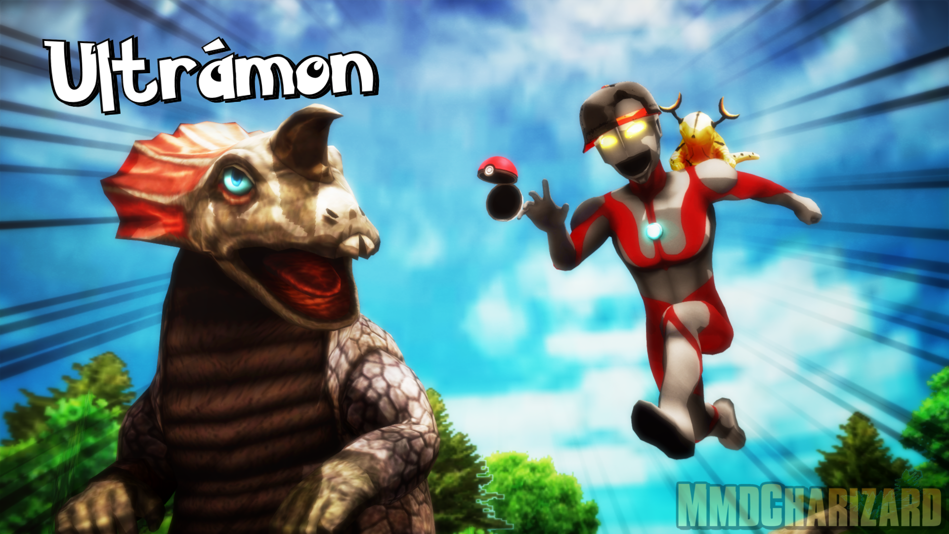 MMD - Ultramon (Ultraman X Pokemon) by MMDCharizard on