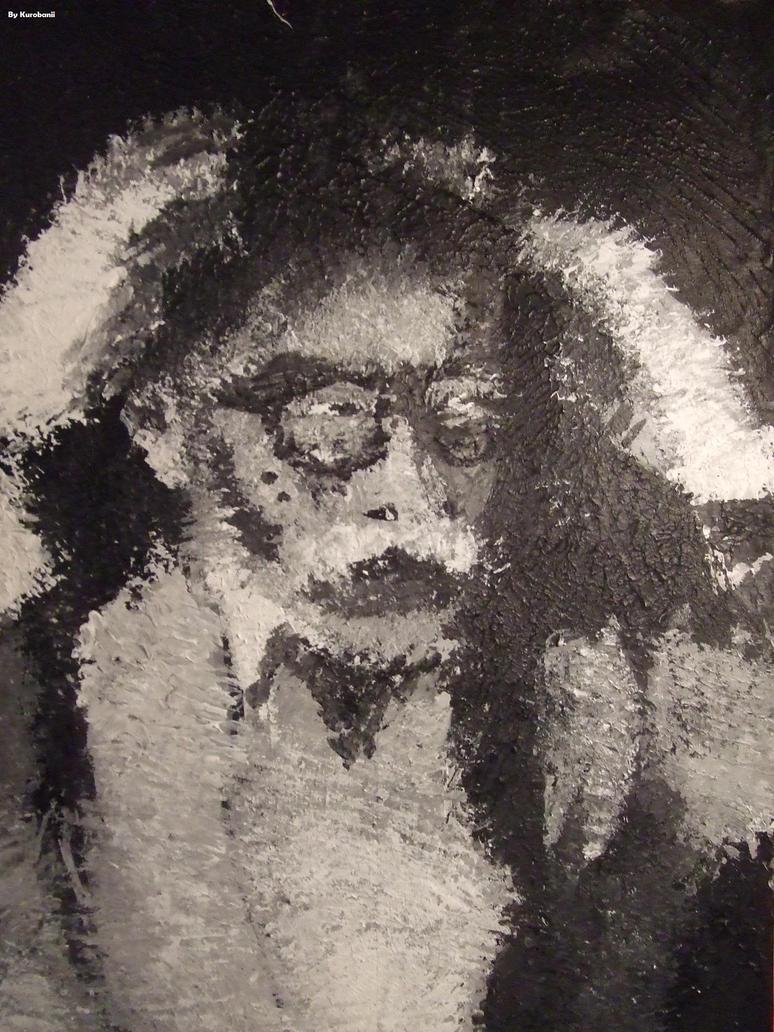 Portrait NB de Hayao Miyazaki by Kurobanii