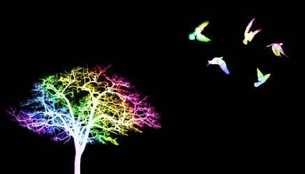 Rainbow Tree by maiziedog