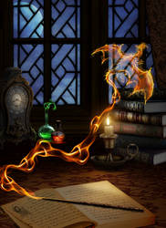 The Spellwork Academy Series: Dragon Casting by ManifestedSoul