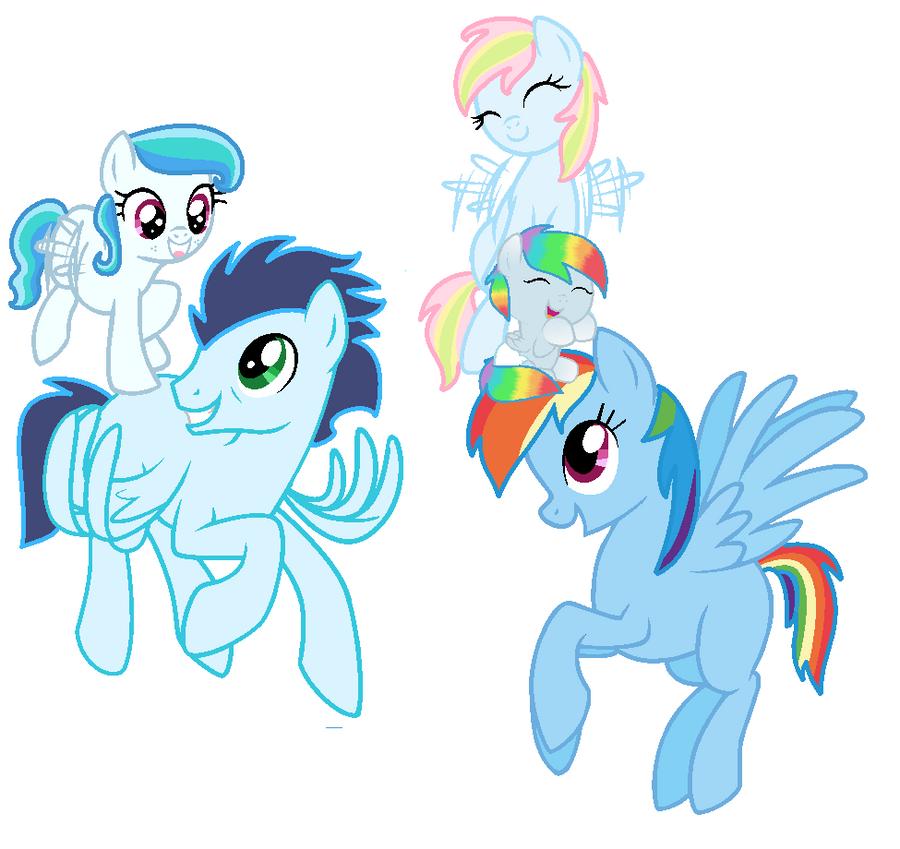 my little pony rainbow dashs parents
