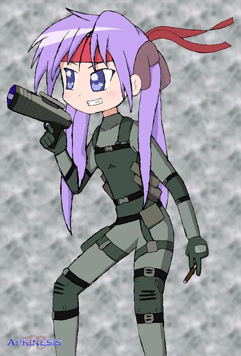 SSBA: Kagami as Solid Snake by Apkinesis