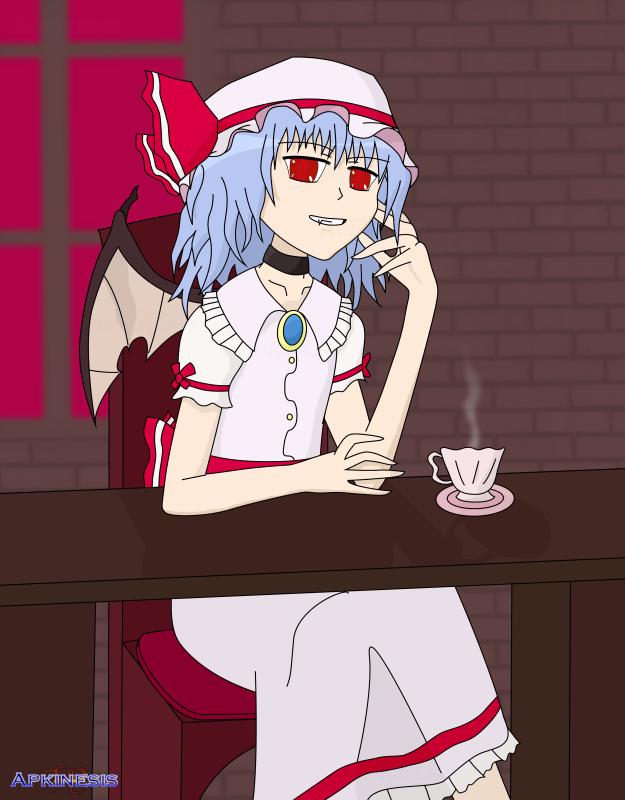 Remilia: Scarlet Portrait by Apkinesis