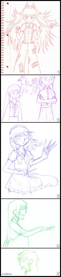 Some Old Touhou Sketches